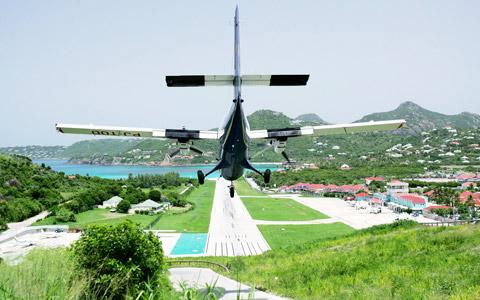 St. Jean Airport, Saint Barthélemy island.