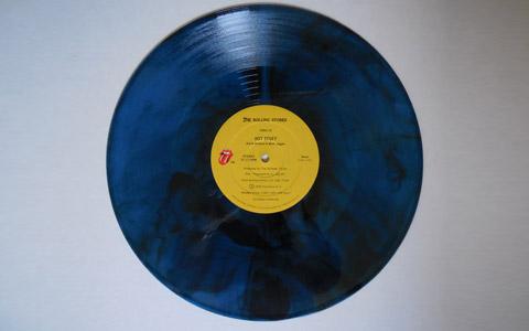 The Rolling Stones 33 rpm vinyl.