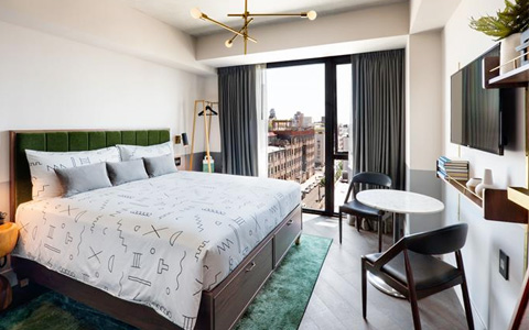 The Hoxton hotel in Brooklyn NYC.